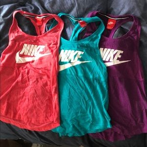 Bundle of Nike Mesh Tank Tops